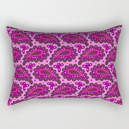 Dark pink paisley seamless pattern. Rectangular Pillow