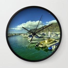 Los Gigantes marina Wall Clock