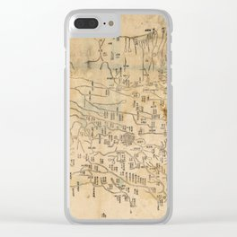 Map of Anxi and Qinghai Outside of Jiayuguan, China (1864) Clear iPhone Case