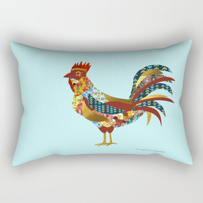2017 - Year of the Rooster Rectangular Pillow