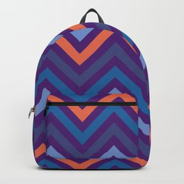 Purple Shade Wavy Line Geometric Patterns Backpack