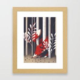 Curious fox Framed Art Print