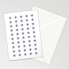 50 Blue Stars Stationery Cards