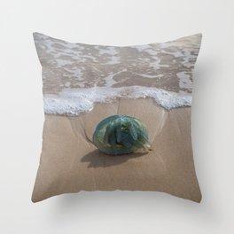 Bluebottle Jellyfish Throw Pillow