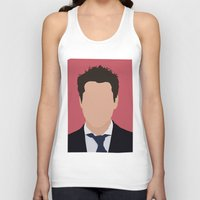 robert downey jr Tank Tops featuring Robert Downey Jr. Digital Portrail by RoarsAdams