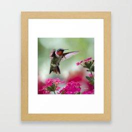 Ruby Garden Jewel Framed Art Print