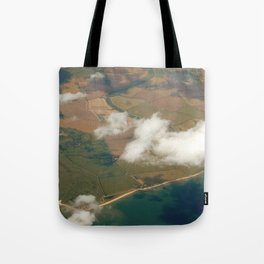 view from a plane Tote Bag
