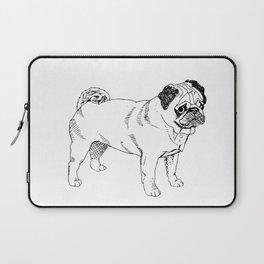 Pug Ink Drawing Laptop Sleeve