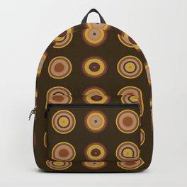 70s Brown circle Wallpaper Backpack