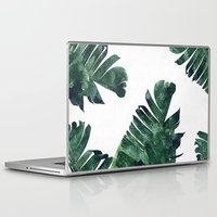 banana leaf Laptop & iPad Skins featuring Banana Leaf Watercolor Pattern #society6 by 83 Oranges™