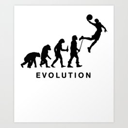 Evolution of basketball Art Print