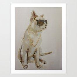 The Coolest Cat Art Print