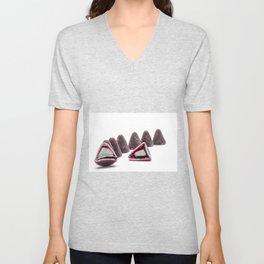 This pyramidal cuberdons Unisex V-Neck