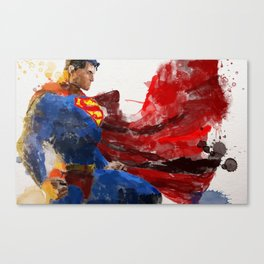 Watercolour Superman Canvas Print