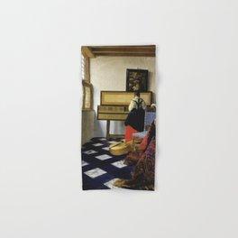 Johannes Vermeer  - The Music Lesson Hand & Bath Towel