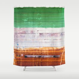 NYC Spray Paint (Color) Shower Curtain