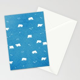 Polar Bears Pattern Stationery Cards