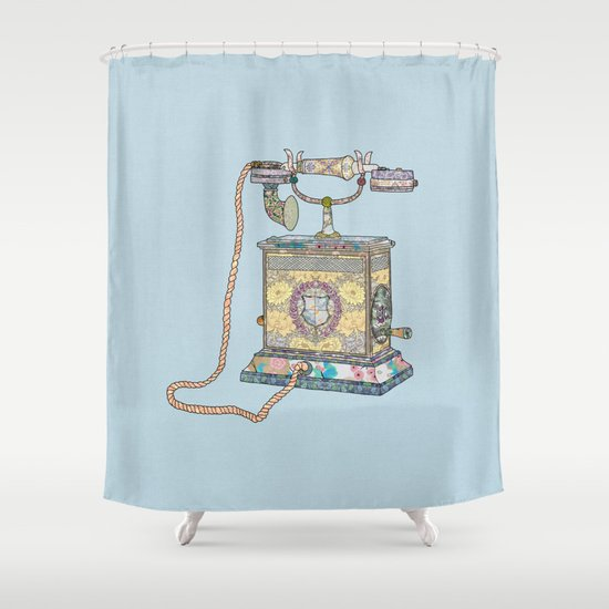 waiting for your call since 1896 Shower Curtain