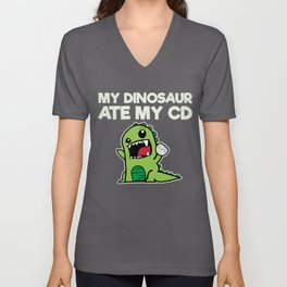 My Dinosaur Ate My CD Unisex V-Neck