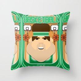 Basketball Green - Court Dunkdribbler - Bob version Throw Pillow
