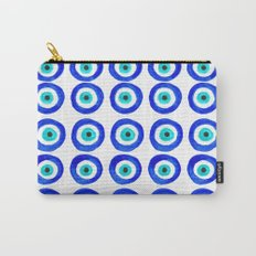 Evil Eye Talisman - on white Carry-All Pouch