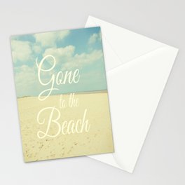 Gone To The Beach Stationery Cards