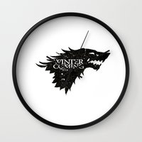 stark Wall Clocks featuring Stark by Passion Grows Within