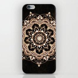 Glowing Spirit Black White Mandala Design iPhone Skin