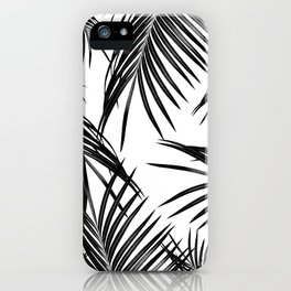 Black Palm Leaves Dream #1 #tropical #decor #art #society6 iPhone Case