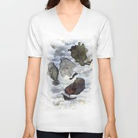 ship V-neck T-shirts featuring Ship by Andreas Derebucha