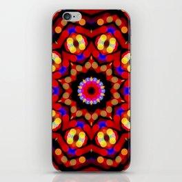 Kaleidoscope Christmas Bokeh Light Trails iPhone Skin