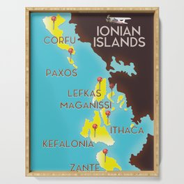 ionian Islands map Serving Tray
