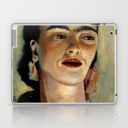 Portrait of Frida the Dove Laptop & iPad Skin