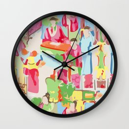 Famille Rose Wall Clock