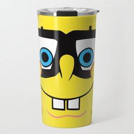 Spongebob Nerd Face Travel Mug