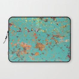 Aqua Bohemian Textile Art Laptop Sleeve