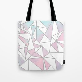 Modern white pink teal watercolor geometrical shapes Tote Bag