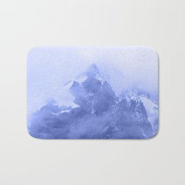 Rocky Mountain Fog Blue Bath Mat