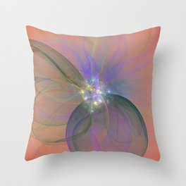 Fairy Blossom Fractal Throw Pillow