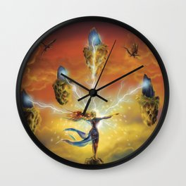 Ritual of the Four Elements Wall Clock