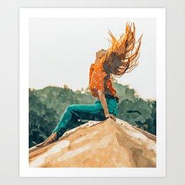 Live Free #painting Art Print