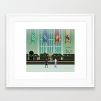 hogwarts Framed Art Prints featuring Hogwarts by FuliFuli