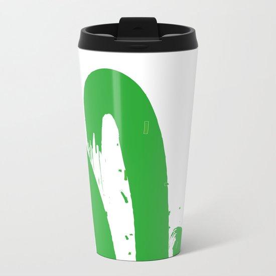 Cactus Minimal Metal Travel Mug