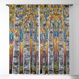 Colorful Autumn Aspen Trees  Blackout Curtain