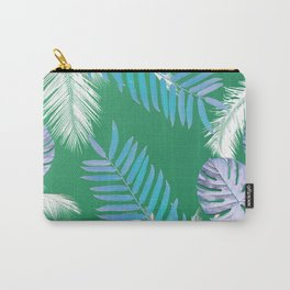 PALMS PRINT Green Carry-All Pouch
