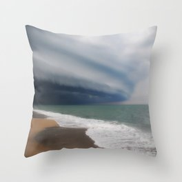 Warnings from the Sky Throw Pillow