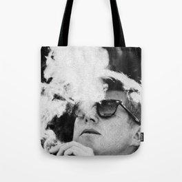Cigar Smoker Cigar Lover JFK Gifts Black And White Photo Wall Art Tote Bag
