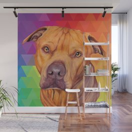 Rainbow puppy Wall Mural