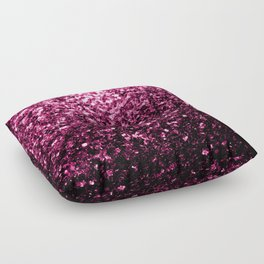Beautiful Dark Pink glitter sparkles Floor Pillow