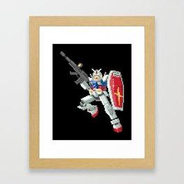 8-bit Gundam Framed Art Print